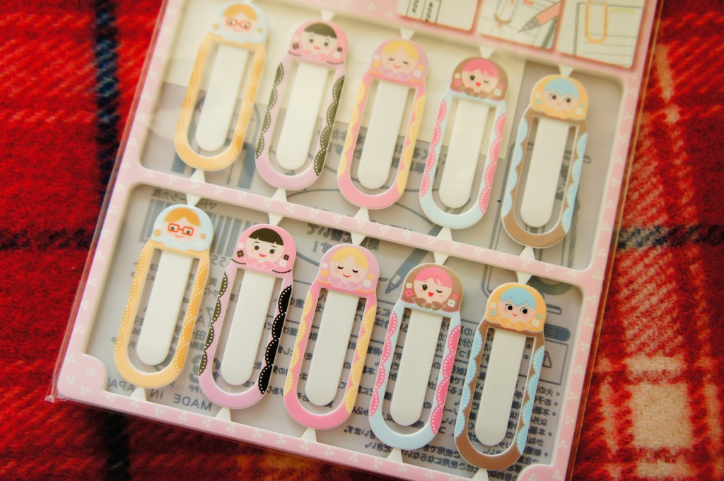 Japanese doll paper clips