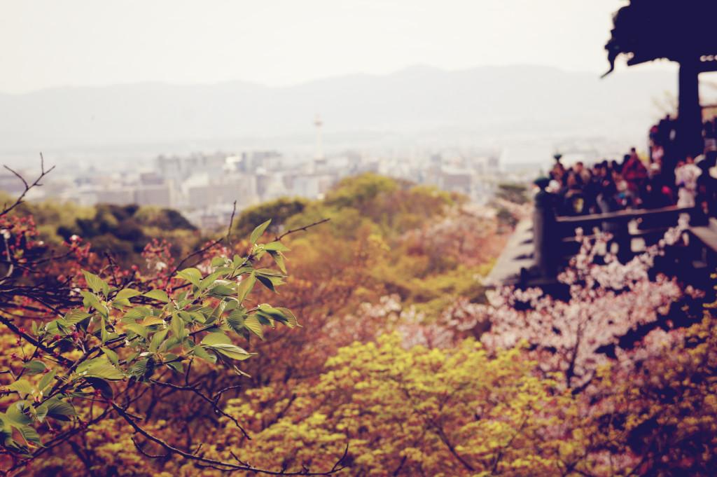 View from Kyomizu dera Kyoto Japan