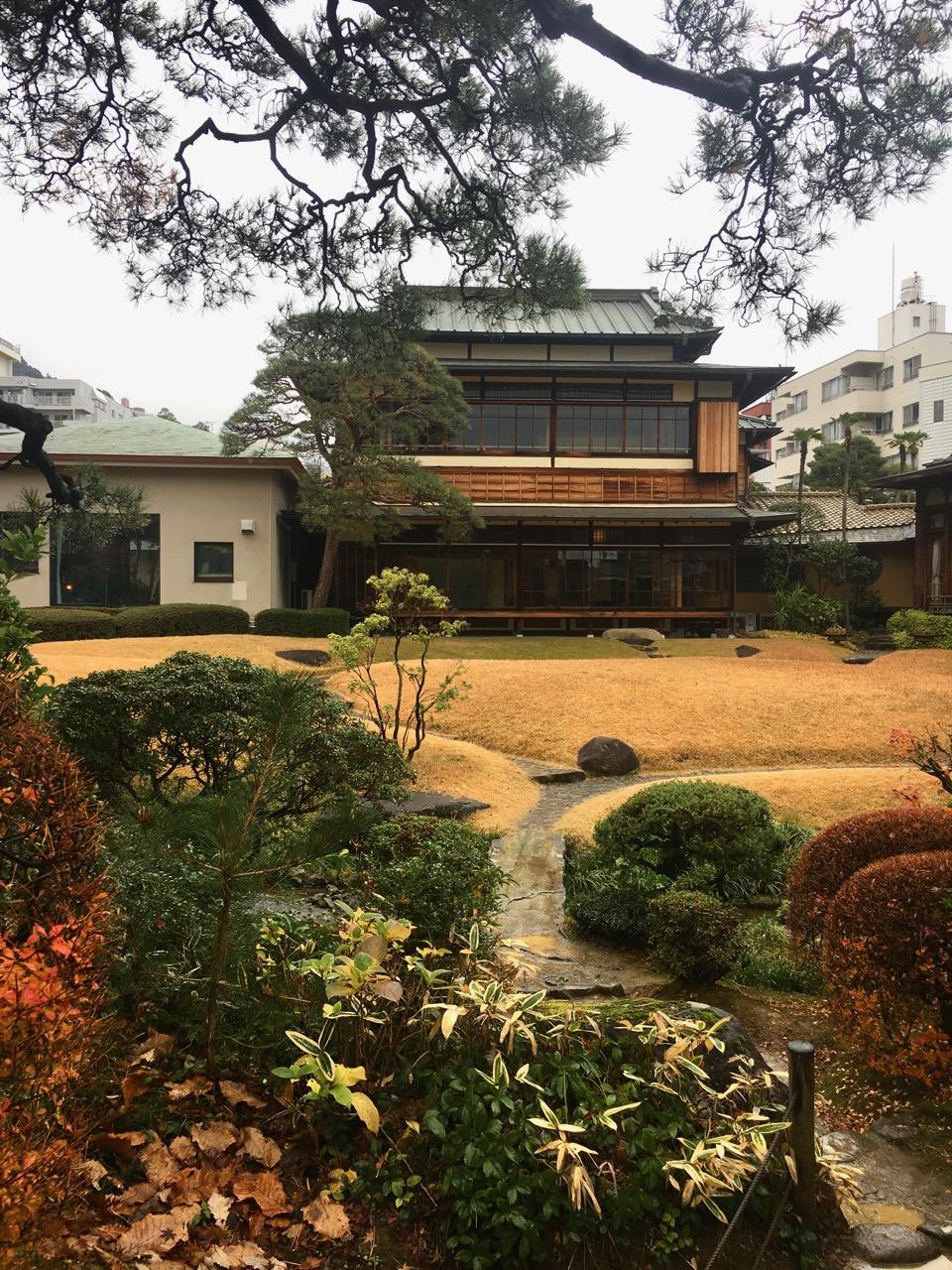 Japanese garden at Kiunkaku きうんかく